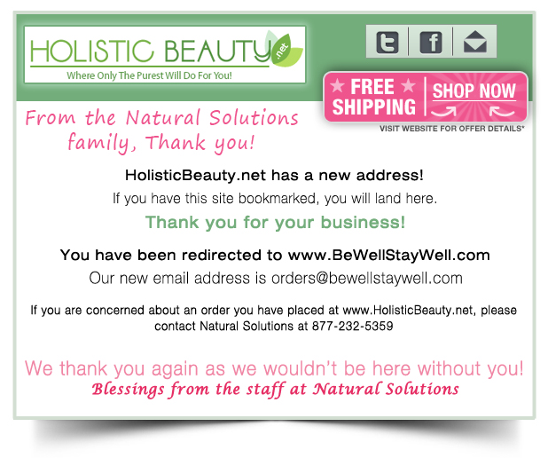 HolisticBeauty.net new web address Announcement